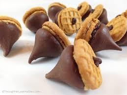 peanut butter chocolate acorns through looking glass