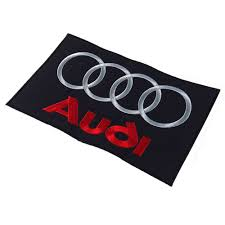 logo audi audi embroidered patch emblem brand logo mark black large