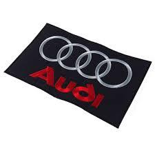 logo audi audi embroidered patch emblem brand logo mark black large