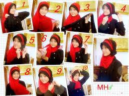 tutorial hijab pesta 2 kerudung tutorial jilbab pesta ala nita yulianti maroon hijab