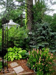Metal Arbor With Gate Garden Arbors U0026 Gates Make An Entrance Our Fairfield Home