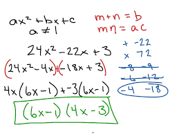 showme factoring trinomials with form ax 2 bx c