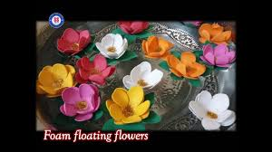 floating flowers diy how to make floating flowers for diwali decoration floating