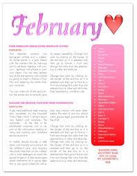 february newsletter template http www worddraw com february
