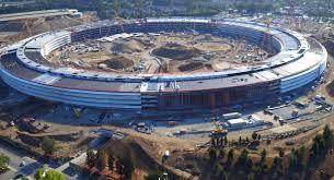 apple campus 2 drone footage u0027spaceship u0027 build progress