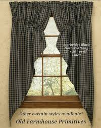 Black Curtain Primitive Country Curtains