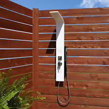 carrollton two jet outdoor shower panel with shower outdoor