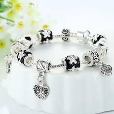 black beaded charm bracelet images Black beads bracelet for women 925 sterling silver charmloop jpg