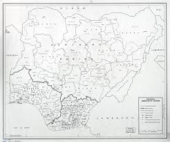 Map Of Nigeria Africa large scale detailed administrative divisions map of nigeria