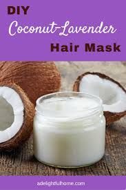 diy coconut lavender hair mask lavender oil hair loss and