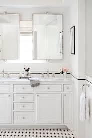Subway Tile Backsplash Bathroom - bathroom with white subway tile herringbone tile backsplash