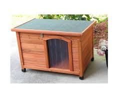 pamper your dog with a solid cedar dog house at low low prices