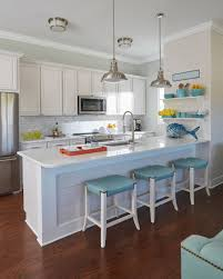 beach house kitchen with turquoise accents cool kitchens