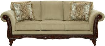 affordable furniture 8500 traditional sofa with exposed wood