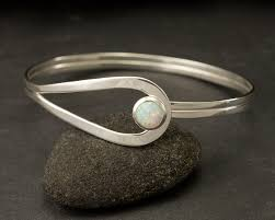 Handcrafted Sterling Silver Jewellery - sterling silver opal bracelet sterling silver latch bracelet