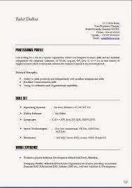 it cv resume sle general objective warehouse best template collection
