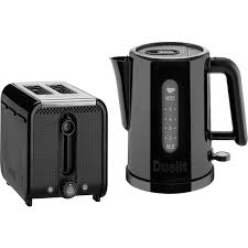 Toaster And Kettle Dualit Studio 1 5l Kettle And 2 Slice Toaster Bundle Black