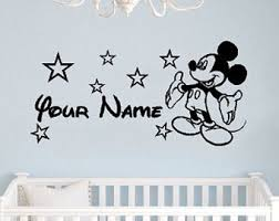 Mickey Mouse Room Decor Mickey Mouse Wall Etsy