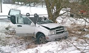 chevy tracker off road condition of teen driver in schoolcraft township crash upgraded to