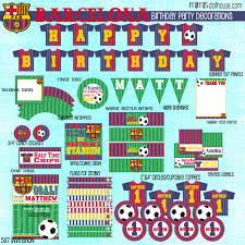 barcelona soccer party printable collection mimi u0027s dollhouse
