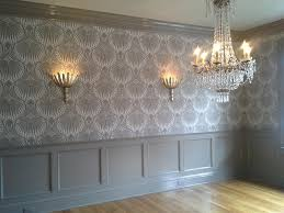 dining room with farrow u0026 ball lotus wallpaper pcd project dodd