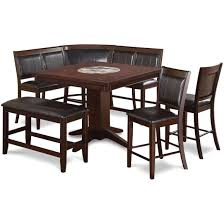 dining room sets dining table and chair set rc willey 7 piece counter height dining set transitional harrison brown