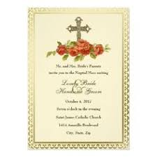 catholic wedding invitation catholic wedding invitation black christian cross wedding