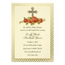 catholic wedding invitation black christian cross wedding