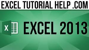 tutorial excel basic basic tasks in excel 2013 part 1 youtube