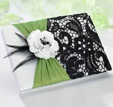 black wedding guest book green black wedding guest book green guest book