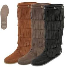 minnetonka womens boots size 11 moccasin s 5 layer fringe boot