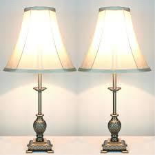 furniture antique white bedside table lamps for vintage bedroom decor