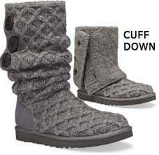 ugg s lattice cardy boots in charcoal