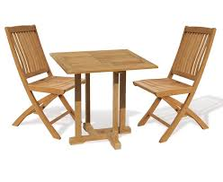 2 Seater Dining Tables Canfield 2 Seater Teak Square Garden Table And Bali Folding Chairs Set
