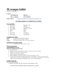 How To Write A Successful Resume By Muhammad Zubair by Waqas Cv Copy