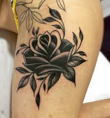 back of the neck tattoos for girls every rose has its thorn 64 incredible thigh tattoo designs and meanings tattoozza
