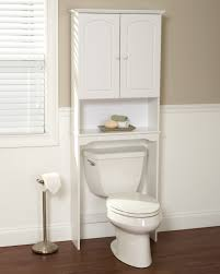 Above Toilet Cabinet Bathroom White Bathroom Organizer Over Toilet With Door And