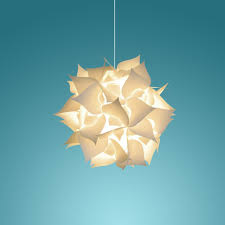 Paper Hanging Lamp Small Spades Hanging Pendant Lamp Warm White Glow