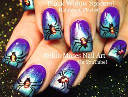 robin moses nail art cute halloween skeleton nails