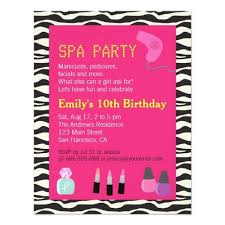 242 best spa birthday party invitations images on pinterest