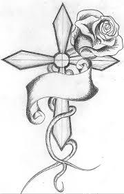grey ink and cross design