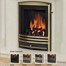 be modern alcazar slimline inset gas fire free mainland uk delivery