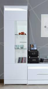 White Gloss Living Room Furniture Uk In Stock Ready To Go Sciae Ovio Modern Display Cabinet White