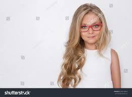 in long hair portrait lovely little daughter long stock photo 348118964