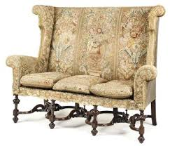 Settee Dictionary William And Mary Style Wing Velvet Settee U2013 Late 17th Century