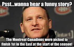 Montreal Canadians Memes - psst wanna hear a funny story the montreal canadiens were picked