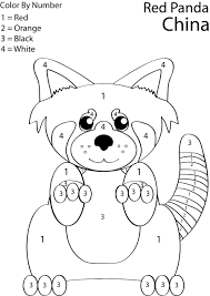 red panda coloring pages chuckbutt com