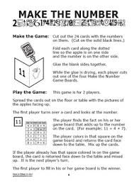 facts to 15 facts to 15 worksheets full color addition game