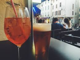 drinking in the french style aperol spritz cocktail recipe