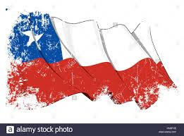 Chilian Flag Grunge Vector Illustration Of A Waving Chilean Flag All Elements